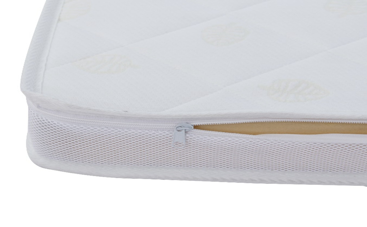 Jacquard knit mattress cover with zipper for memory foam